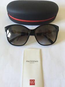 Ana Hickmann Acetate Sunglasses Model AH9186 in  A01 Black, Grey Gradient Lenses