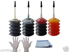 Refill ink kit for HP 74 XL 75 PhotoSmart C4275 C4280 C4300 C4450 120ml gloves