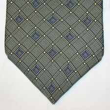 NEW Nautica Silk Neck Tie Medium Green with Blue Plaids and Yellow Dots 1245