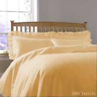 Plain Dyed Duvet/Quilt Cover Set With Pillow Cases (Most Wanted Colour)