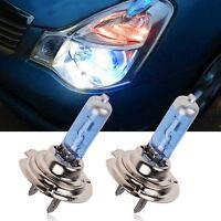 2 x 100W H7 Car Super White Headlight Xenon Halogen Globes Light Lamp Bulb Blue