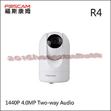 Foscam R4 HD 1440P 4.0MP Cloud IP Camera TF Storage 8x Digital Zoom WHITE