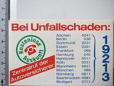 Aufkleber Sticker Bei Unfallschaden - Zentralruf der Autoversicherer (3001)