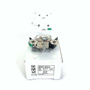 Leviton 8300-SGW Duplex Receptacle 20 Amp 125V