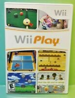 Wii Play Nintendo Wii Game Complete 1 Owner Mint Disc 1-4 players Billards Fish