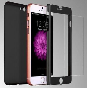 NEW HYBRID 360° HARD THIN CASE + TEMPERED GLASS COVER 4 IPHONE 5 6 7 7Plus 5S SE