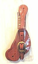 Formay  Chesnut Leather spur straps 180010 CHN,western horse tack