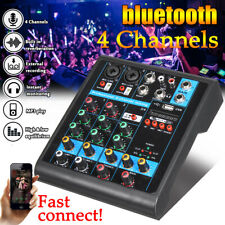 bluetooth 4 Channels Professional Mixer 48V Console Live Studio Audio Stage KTV