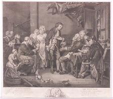 """L'Accorde de Village"", Copper Engraving after Greuze, 2nd Half of 18th Century"