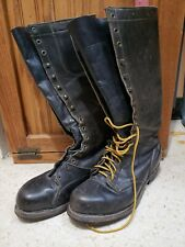 Vintage Knapp Leather Steel Toe Tall Safety Shoes Boots Size Men 8.5 (W 9to10)
