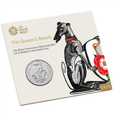 2021 United Kingdom £5 Pound BU Coin Queen's Beasts: White Greyhound of Richmond