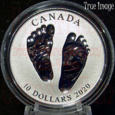 Born in 2020 Welcome to the World Baby Feet Gift box $10 Pure Silver Coin Canada