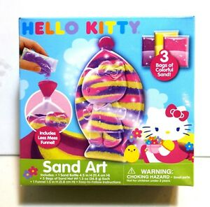 Hello Kitty Sand Art:  3 Bags of Colorful Sand!