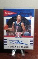 2019-20 Panini Chronicles Hometown Heroes RC Autograph Red Terance Mann Clippers