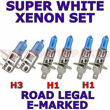 AUDI A6 1995-1997  H1  H1  H3  XENON SUPER WHITE LIGHT BULBS