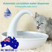 Automatic Electric Pet Water Fountain Cat Dog Drinking Dispenser Fountain AU