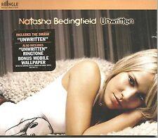 NATASHA BEDINGFIELD Unwritten CLUB MIX & Wild LIVE & RINGLE CD SEALED Single