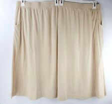 LBW Womens Skirt Stretch Pockets Light Brown Coffee Size 6X Petite NEW