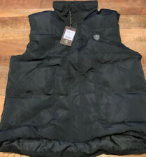 $495 - Roberto Cavalli Black Man Woven Down Gilet Jacket Size 56 (XL)