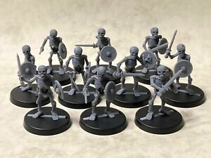 Skeletons with swords and shields for tabletop & roleplaying games