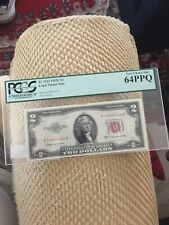1953 Series $2 Two Dollar Legal Tender Red Seal United States Note  Fine PCGS 64