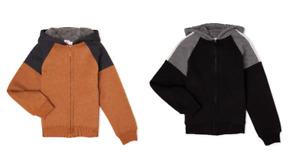 Wonder Nation Boys stylish, soft & cozy sherpa Lined Hoodie sweatshirt M HUSKY