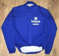 Lampre NGC SMS Santini rare long sleeve cycling jersey Windstopper Jacket size S