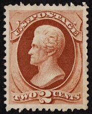 US Sc# 146 *MINT NO GUM* { -XF- 2c RED BROWN JACKSON } BANKNOTE 1870 CV$ 125.00