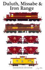 "Duluth, Missabe & Iron Range 11""x17"" Railroad Poster Andy Fletcher signed"