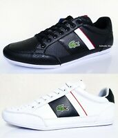 LACOSTE Chaymon 0721 1 Men's Casual Leather Fashion Shoes Sneakers Black White