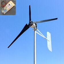 Windmill turbine wind power 1000 Watt 3 black Blade 24DC 3.75 kWh FREE G4-440