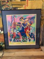 """LeRoy Neiman Numbered And Hand Signed Serigraph 97/300 30"""" X 27.5"""" Framed Boxing"""