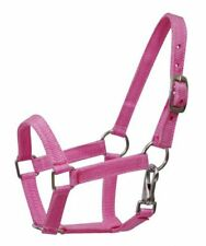 PINK PONY Size Western Nylon Halter w/ Nickel Plated Hardware! NEW HORSE TACK!!
