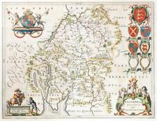 c1646 - Large Original Antique Map of WESTMORLAND Westmoria by BLAEU (LM7)