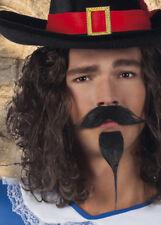 Moustache et fausse barbe mousquetaire