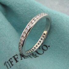 TIFFANY & Co. Platinum 2mm Full Circle Diamond Band Ring 6