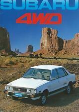 Subaru 4WD Range Brochure 1982 16 Pages Includes Hatchback Sedan Station Wagon