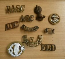 More details for british military cap & shoulder badges rasc aoc asc navy ra south staffords tank