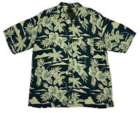 FLYSHACKER Men's XL Short Sleeve Tropical Camp Shirt Cotton Rayon