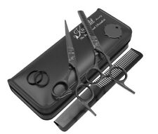 Kanddit® Professional Black Hairdressing Thinning Barber Scissors Set 5.5 Inch