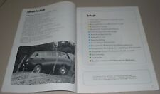 Selbststudienprogramm SSP 66 VW Transporter T 3 + Caravelle Syncro Allrad 1985!