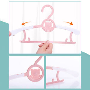 10pcs Baby Clothes Hanger Flexible Racks Plastic Clothing Display Kids Hangers 0