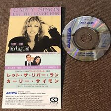 """CARLY SIMON Let The River Run JAPAN 3"""" CD SINGLE A10D-119 Snapped/PS torn,folded"""