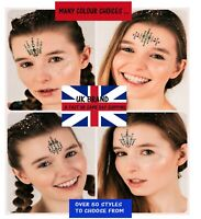FACE GEMS Body Jewel Tattoo Glitter Sticker BINDI FESTIVAL RAVE MAKE UP Diamante