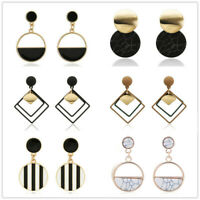 Boho Women Big Pendant Ear Stud Dangle Drop Fashion Geometric Earrings Jewelry