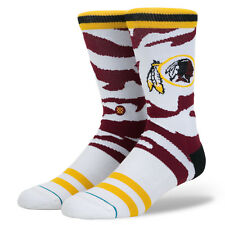 Washington Redskins Stance NFL Tigerstripe Camo Logo Crew Socks Large Men's 9-12