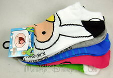 Adventure Time With Finn and Jake 5 Pair No Show Socks Fionna Lumpy NEW