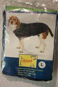 PET DOG SIZE LARGE SOLID BLUE CABLE KNIT SWEATER BY CASUAL CANINE ZW7362057