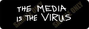 The Media is the Virus Bumper Sticker