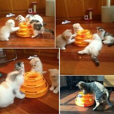 Pet Toys Cute Cat Dog Crazy Ball Disk Interactive Amusement Plate Trilaminar Toy